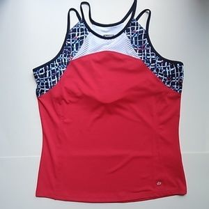bolle Tops - Bolle Palermo Racerback Tennis Top Bolle Red